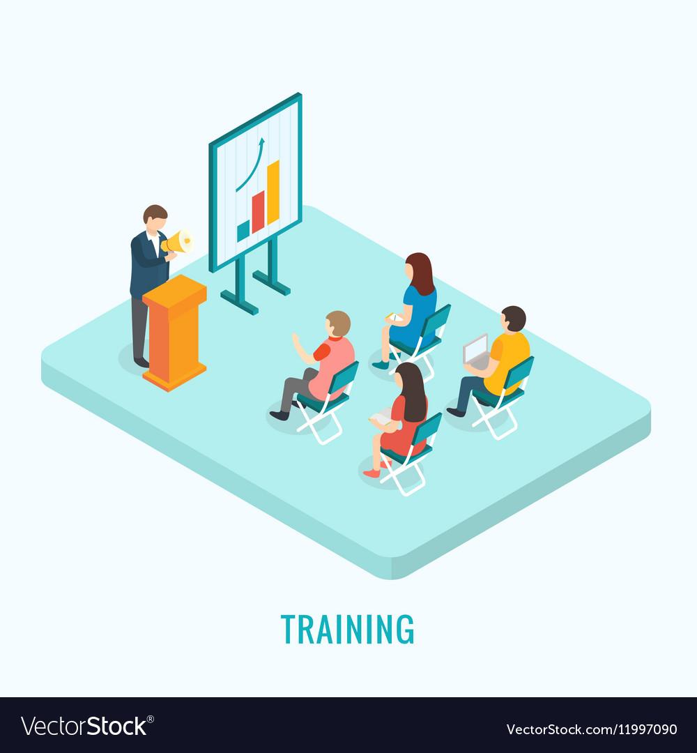 Isometric presentation training concept