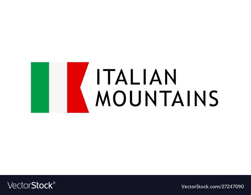 Logotype template for tours to italian alpine