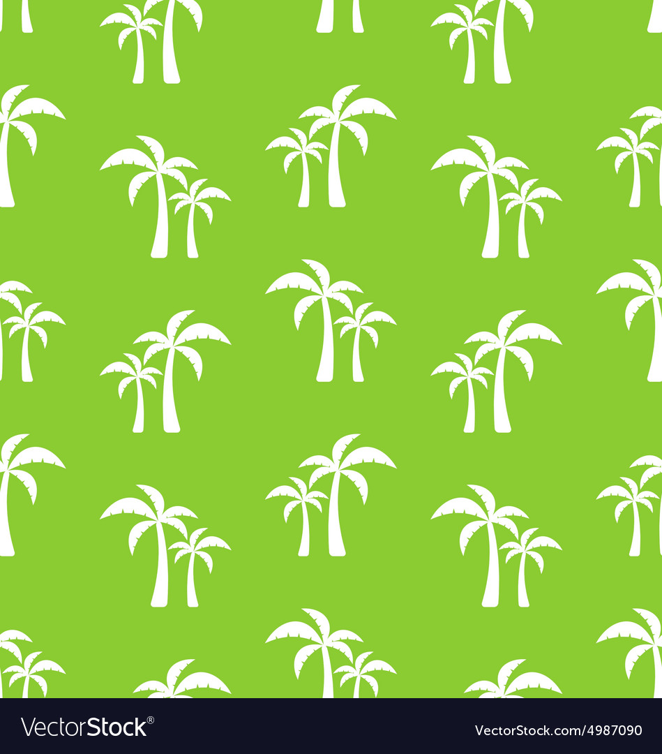 Seamless Pattern with Tropical Palm Trees