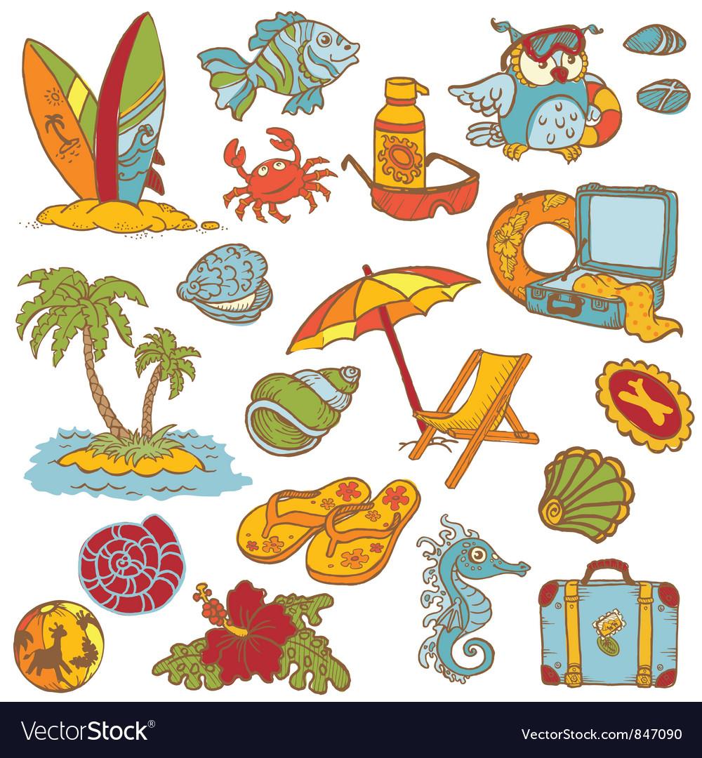 Seaside doodles