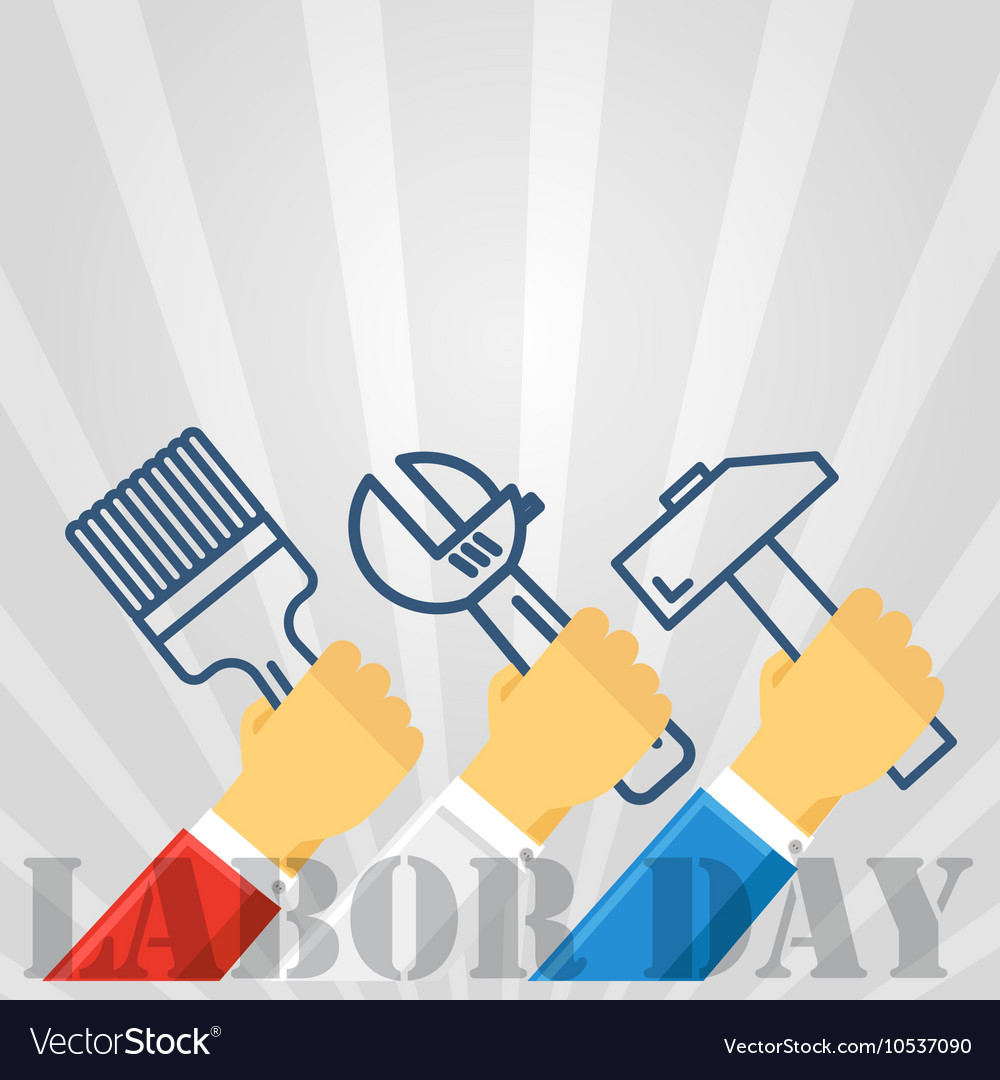 The celebration of the labor day greeting card vector image m4hsunfo