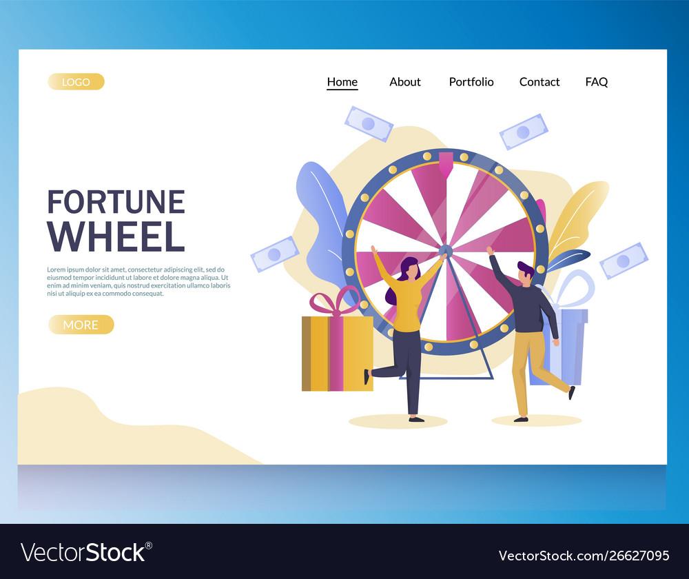 Fortune wheel website landing page design