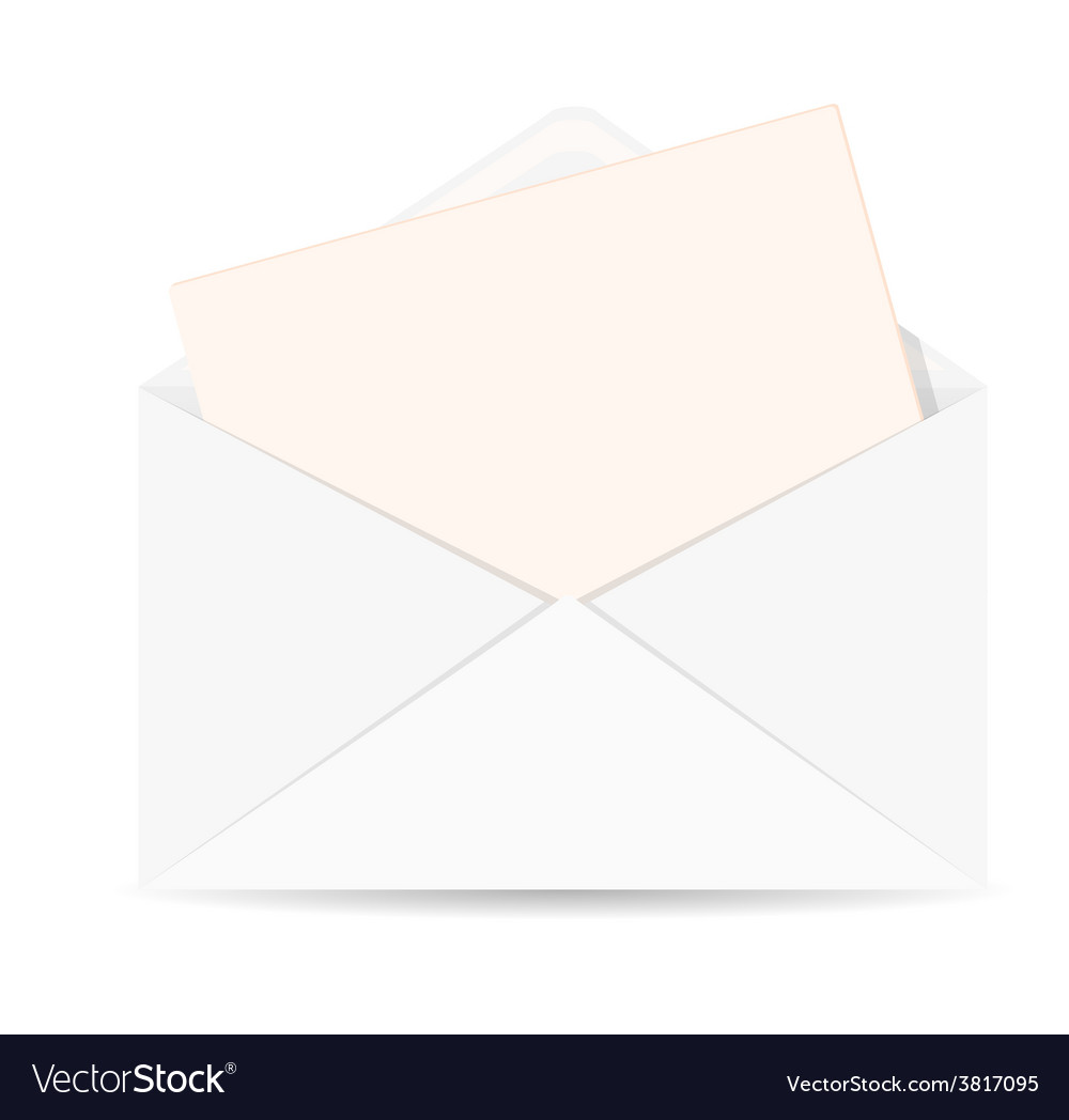 open envelope with letter icon royalty free vector image