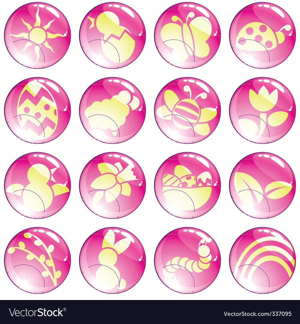 Pink spring icons