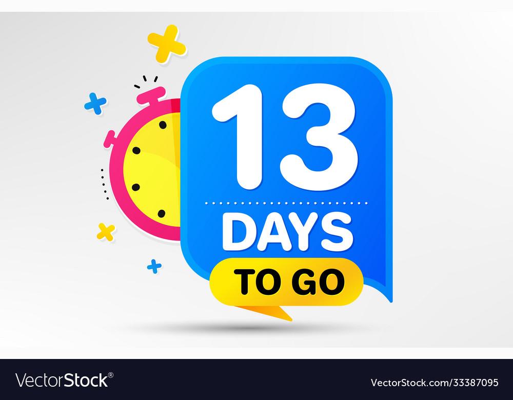 Thirteen days left icon 13 days to go
