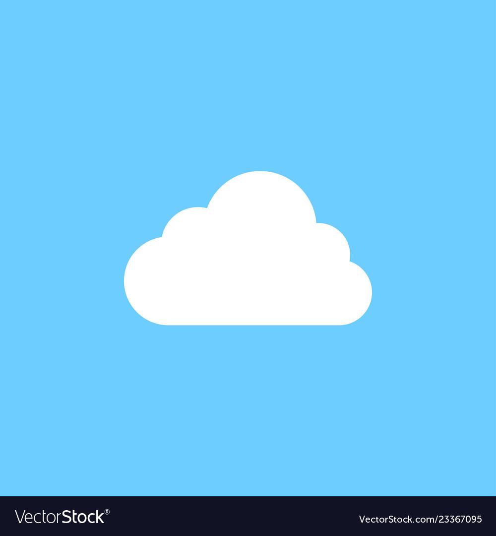 White cloud graphic icon design template