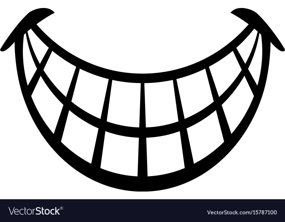 Big happy toothy cartoon smile icon