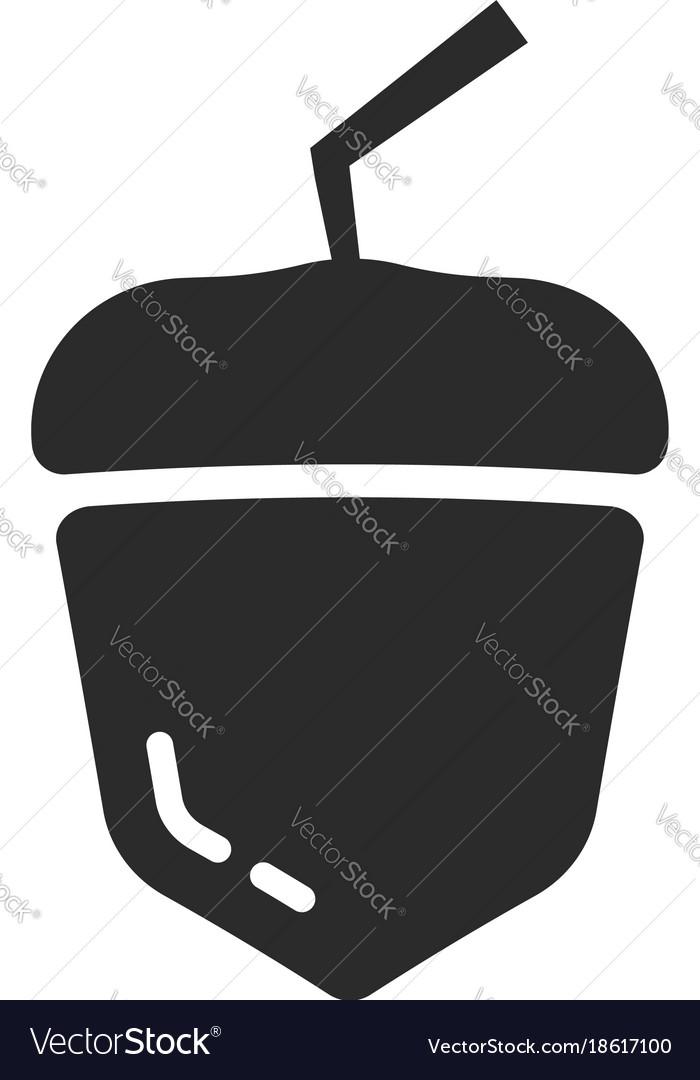 Black simple acorn icon