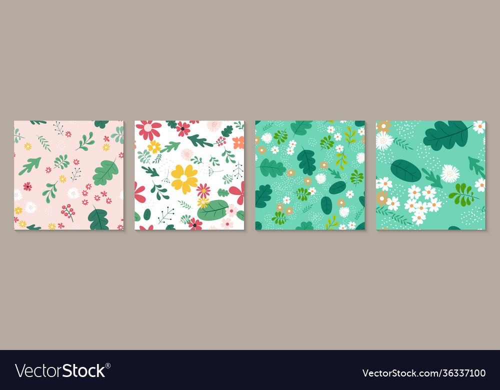 Collection set seamless pattern background