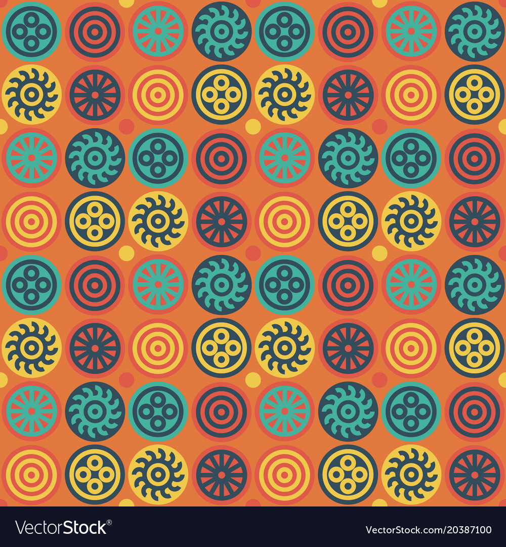 Encrypted symbols seamless pattern vector image