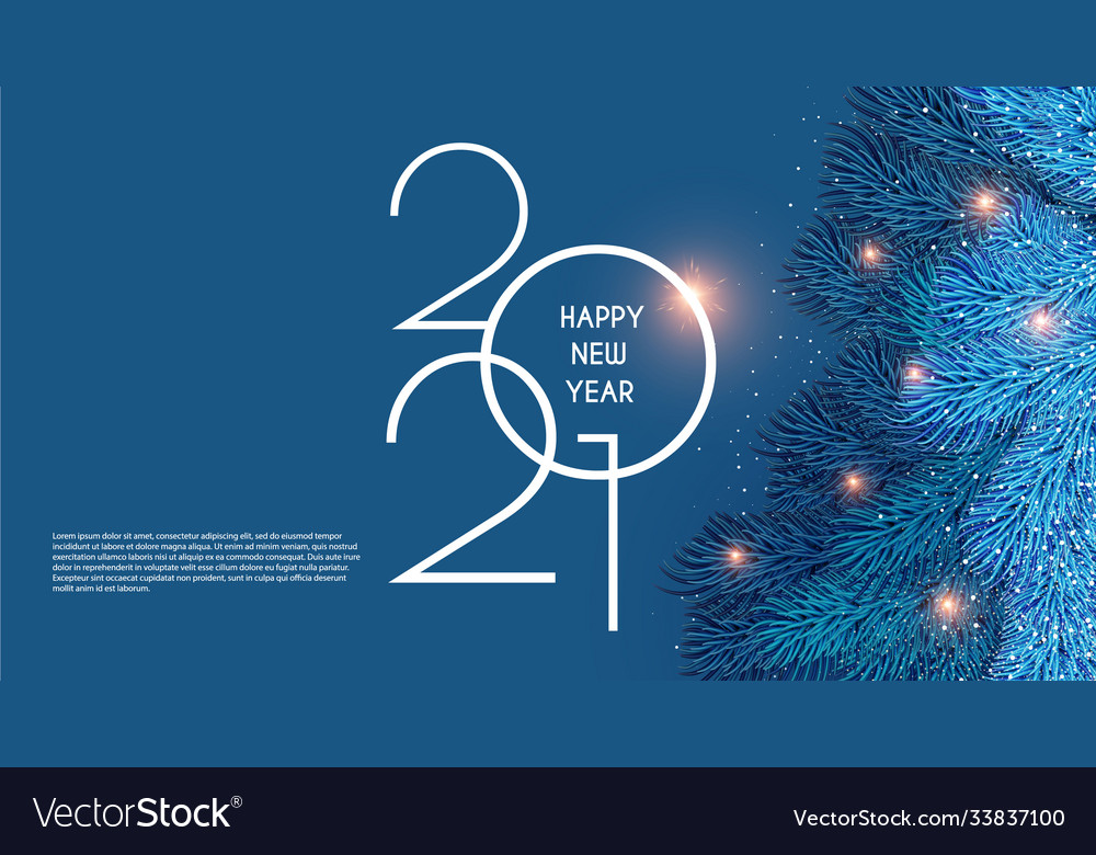 Ad Christmas 2021 Merry Christmas And Happy New 2021 Year Holiday Vector Image