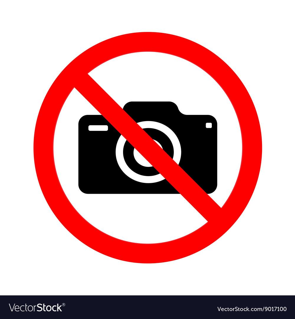 No camera sign