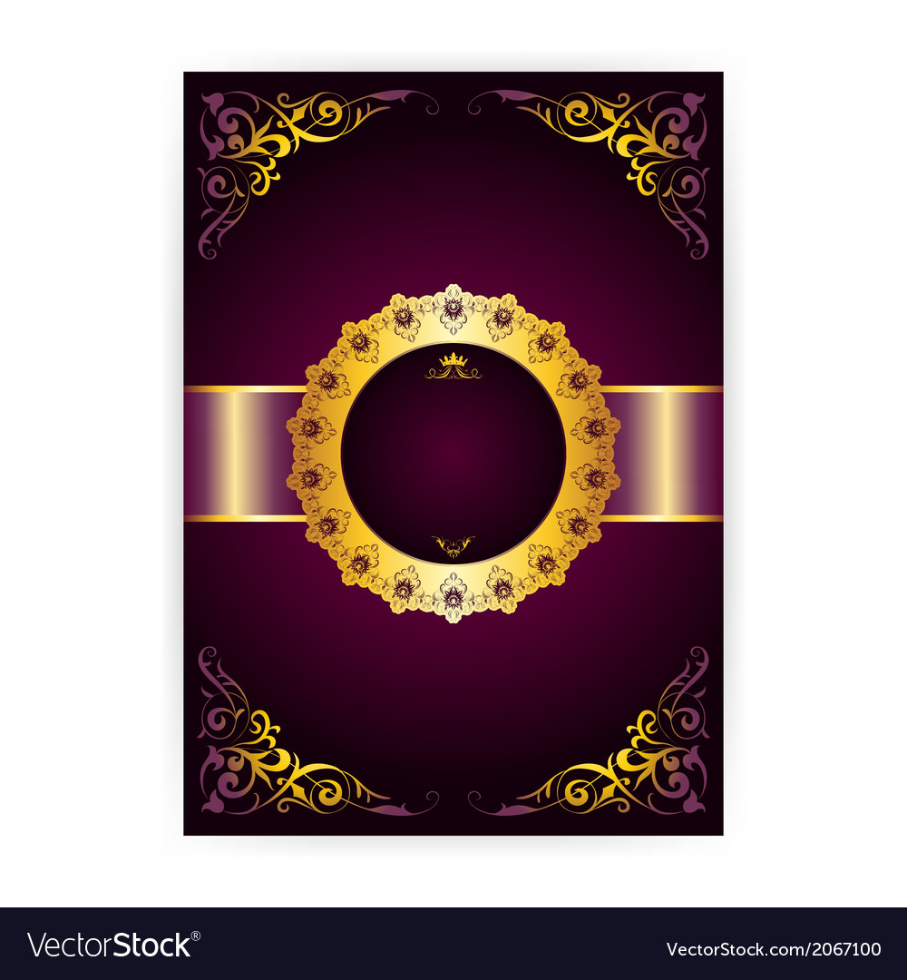 Royal invitation card in an old-style Royalty Free Vector