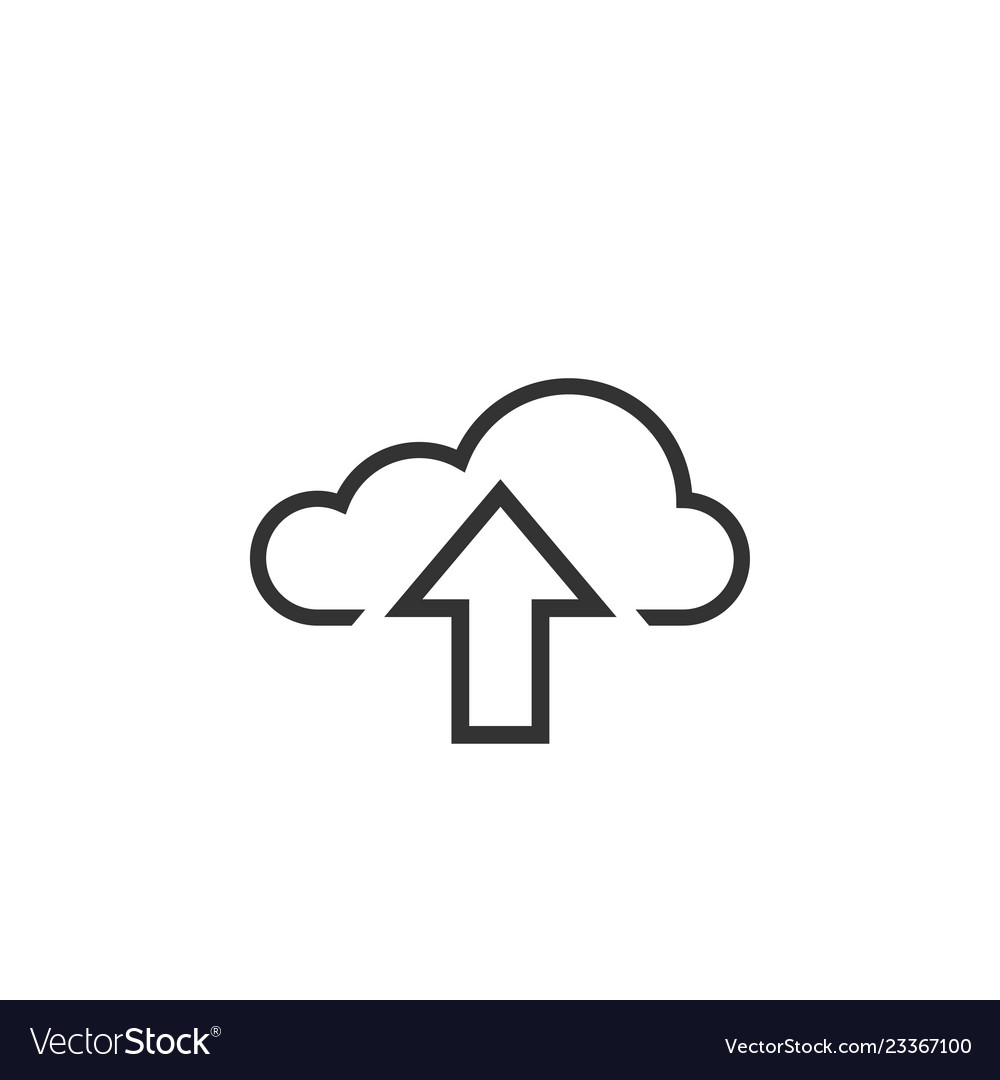 Upload cloud graphic icon design template