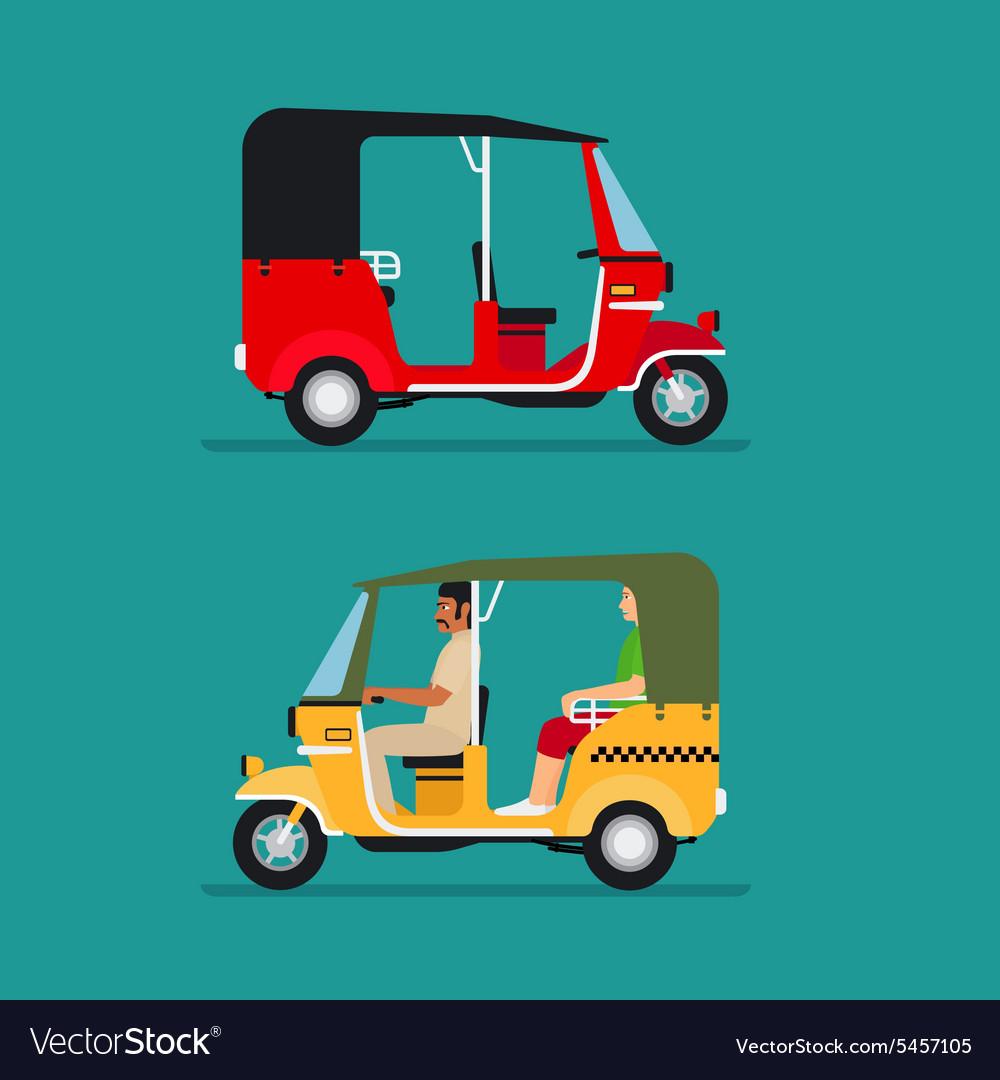 Asian auto rickshaw taxi vector image