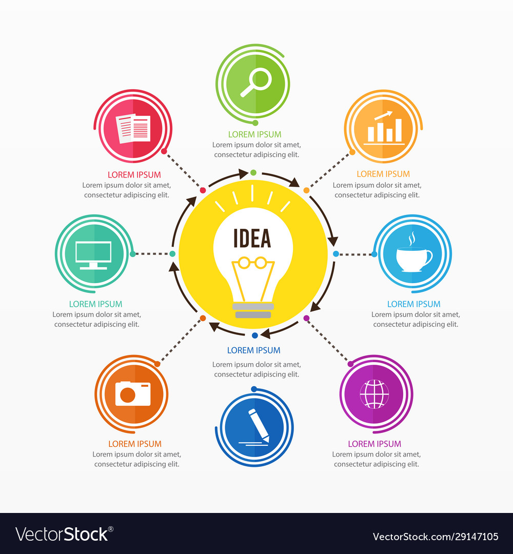 Business and brainstorming infographic design