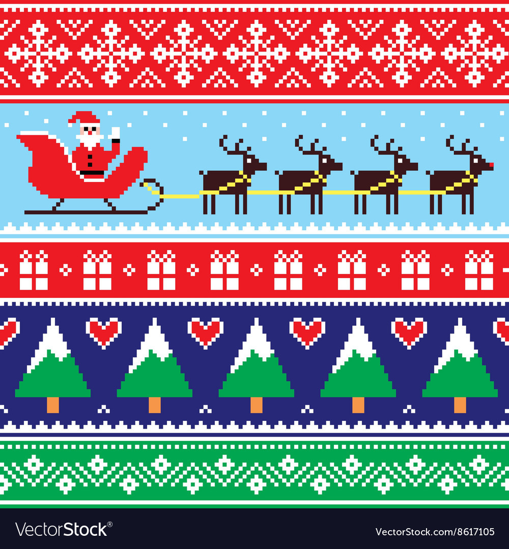 Christmas jumper or sweater seamless pattern