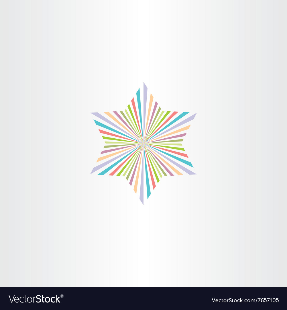 Colorful star symbol icon background element
