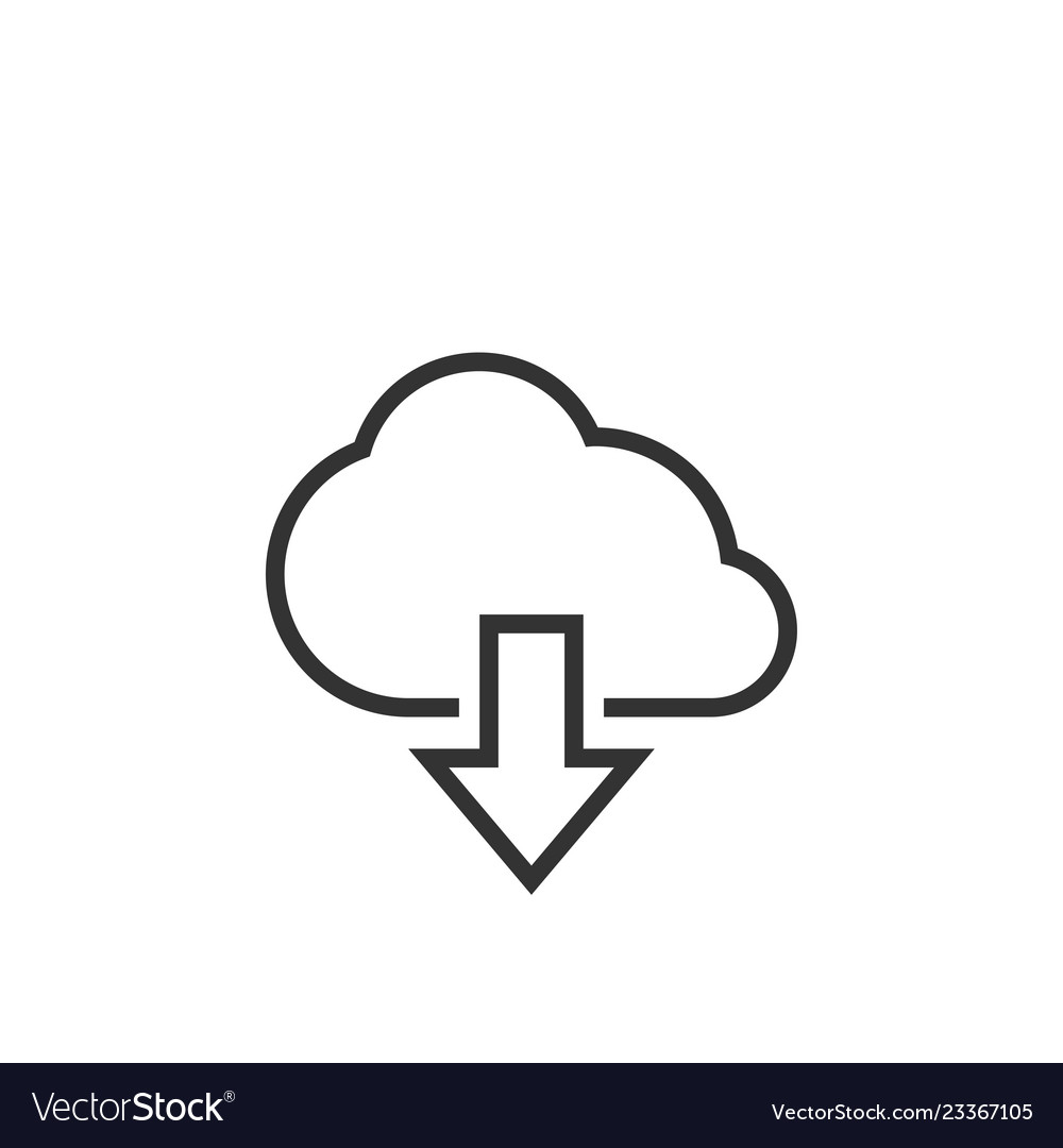 Download cloud graphic icon design template