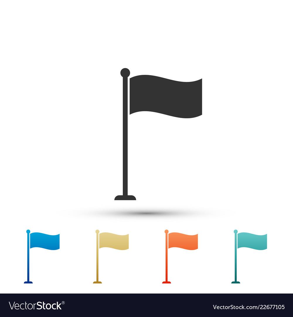 Flag icon isolated location marker symbol