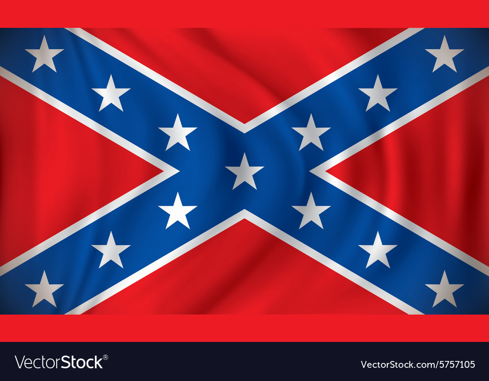 Flag of Confederate vector image