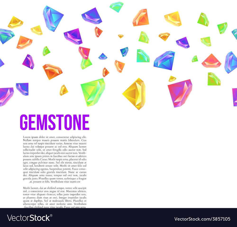Gemstone Seamless Pattern for Presentation