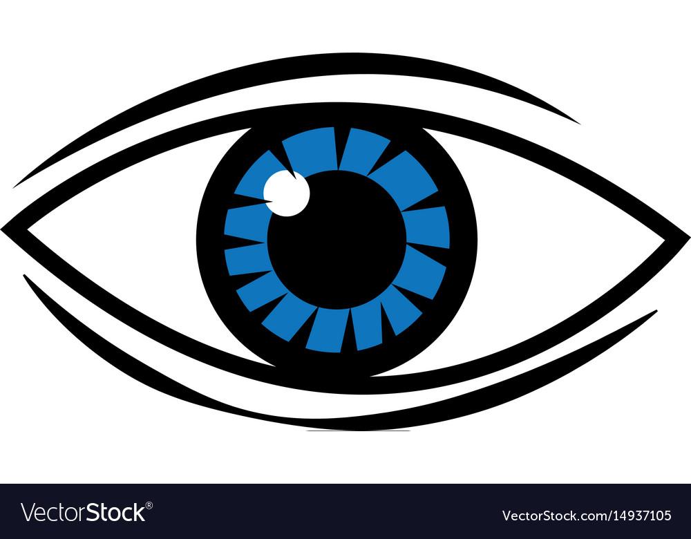 dba76b83d44 Human eye vision optical design image Royalty Free Vector
