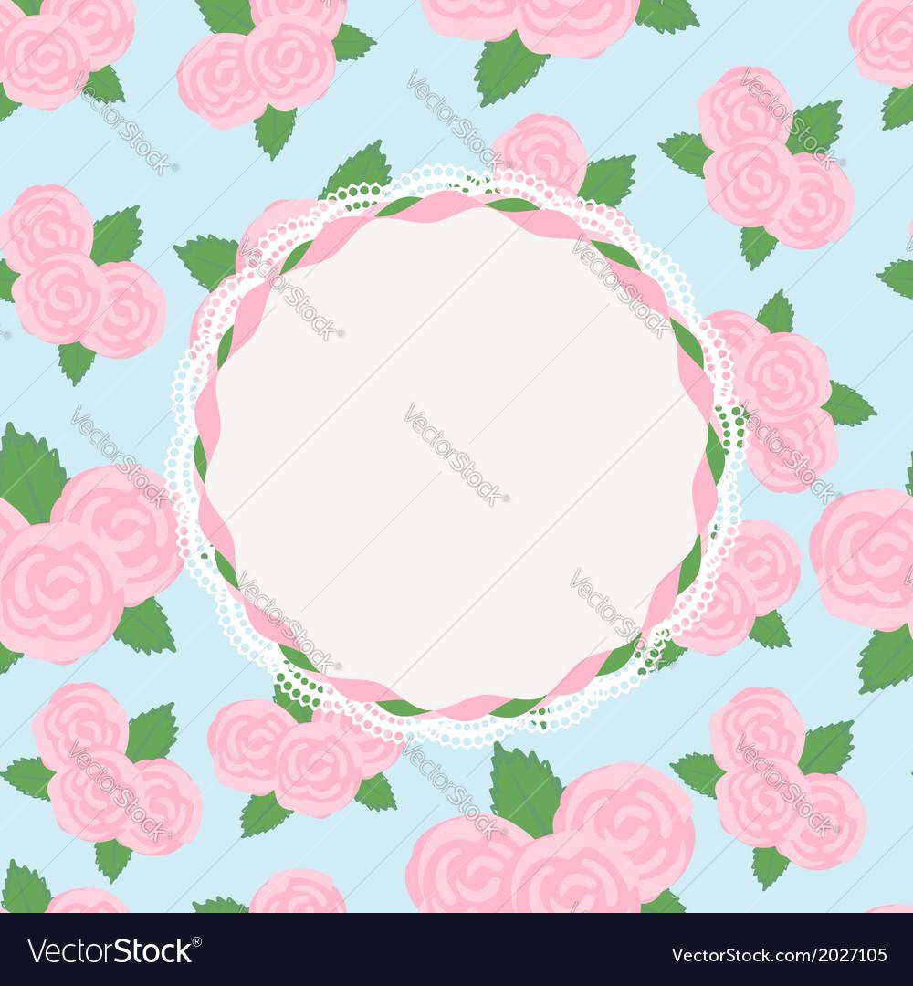 Pretty rose design with vacant central cartouche
