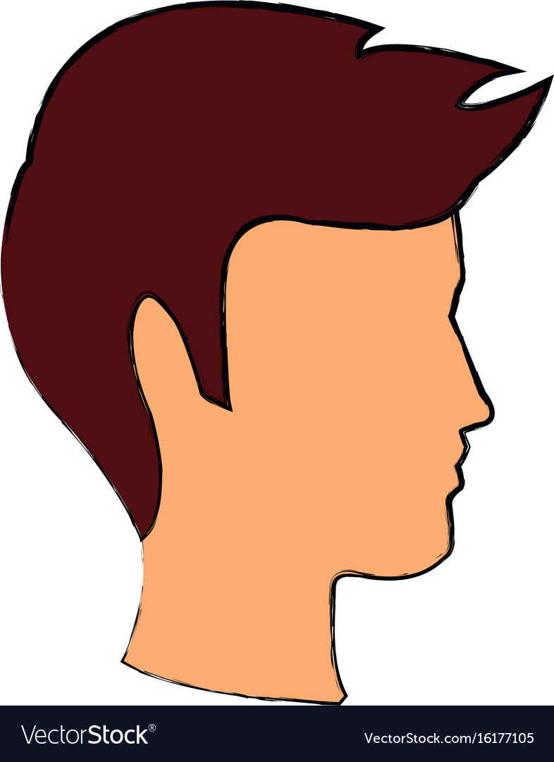 Profile man head character hairstyle