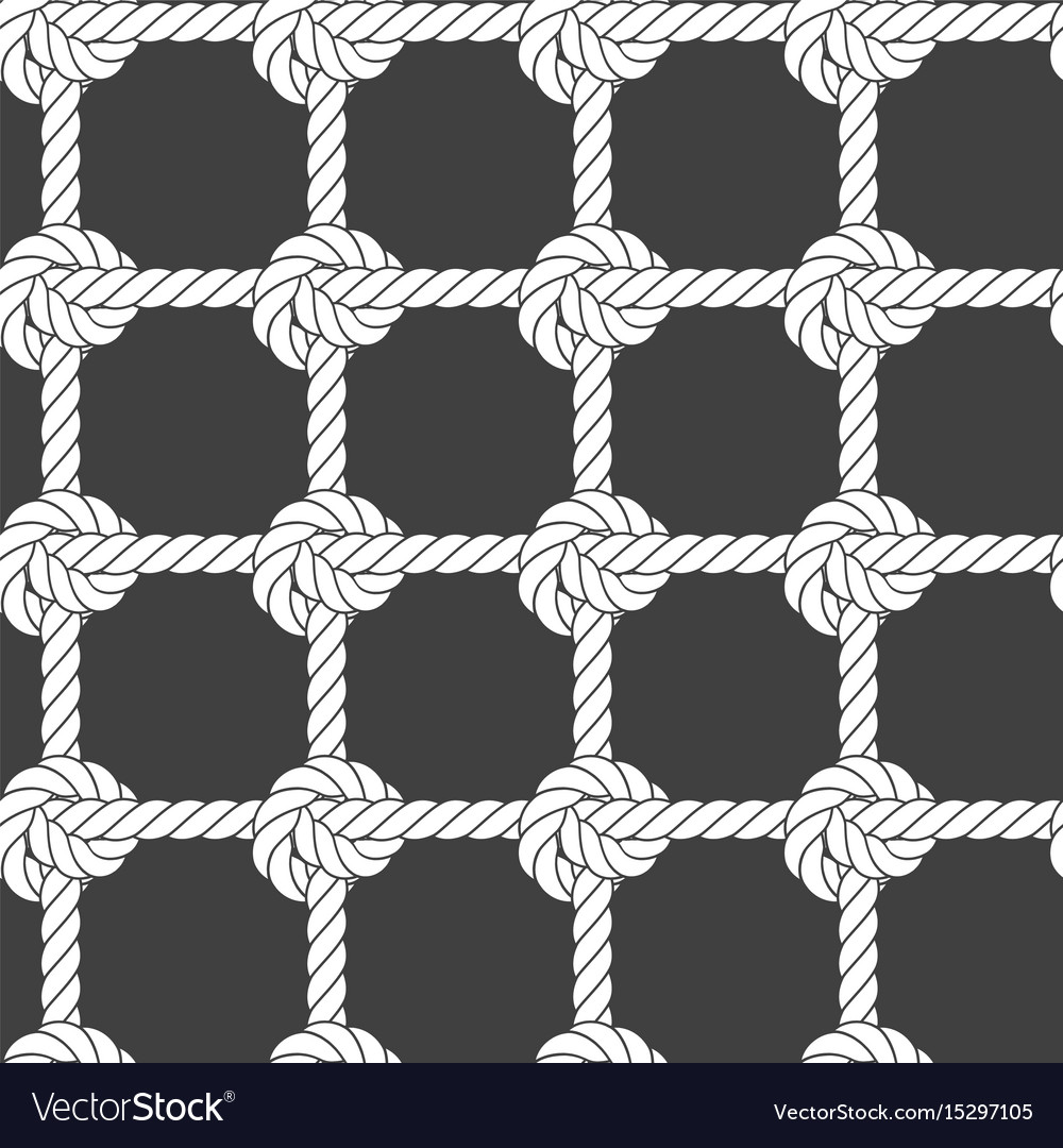 Seamless rope mesh - knots pattern