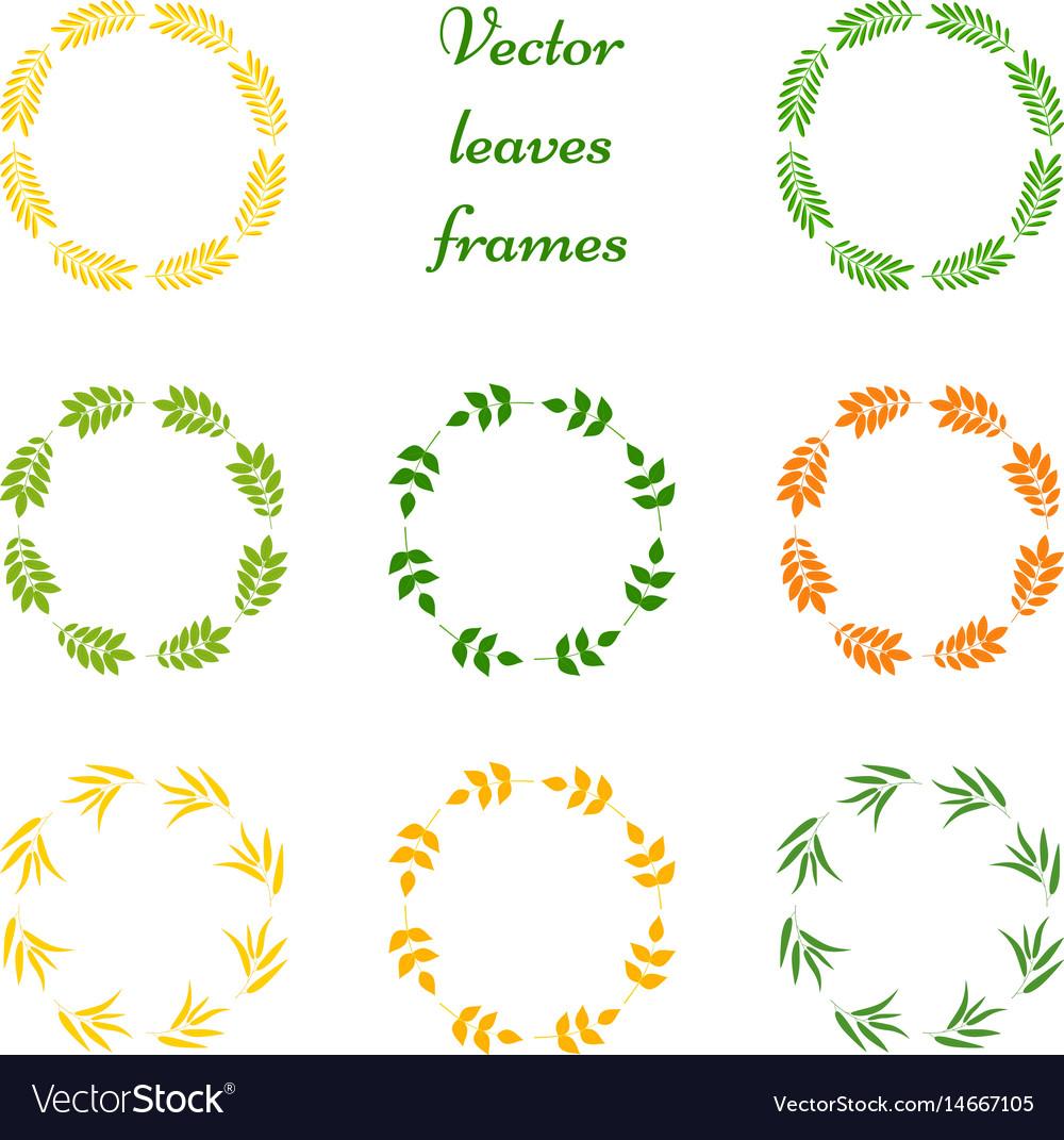 Set of leaves frames