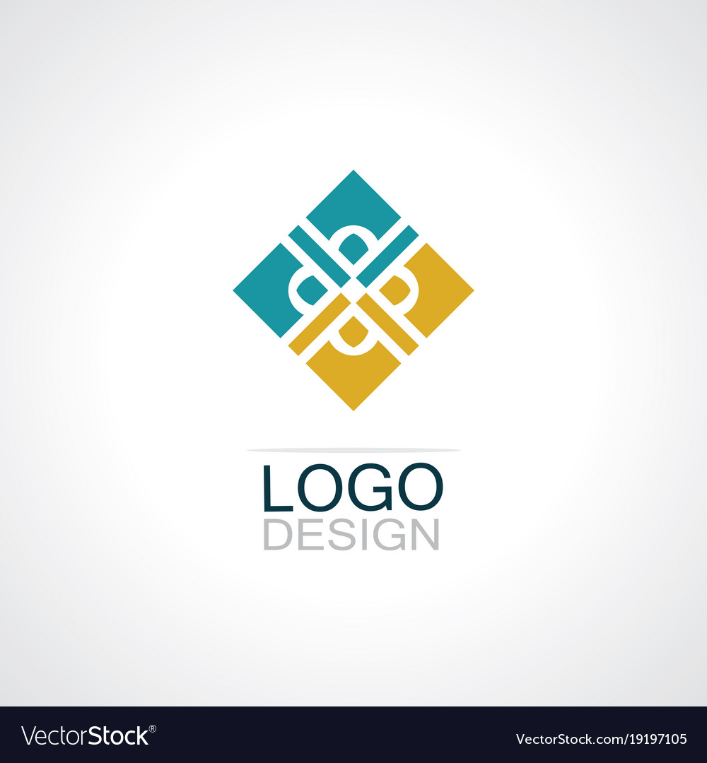 Square Decoration Logo Vector Image On Vectorstock