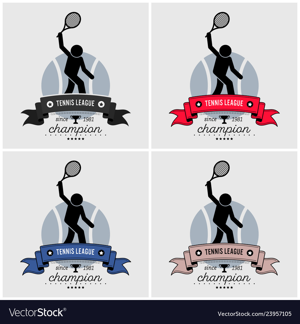 Tennis league logo design artwork of tennis