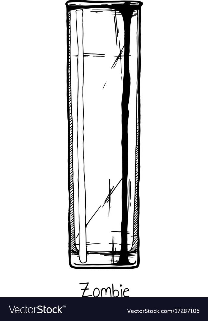 Tumbler glass zombie