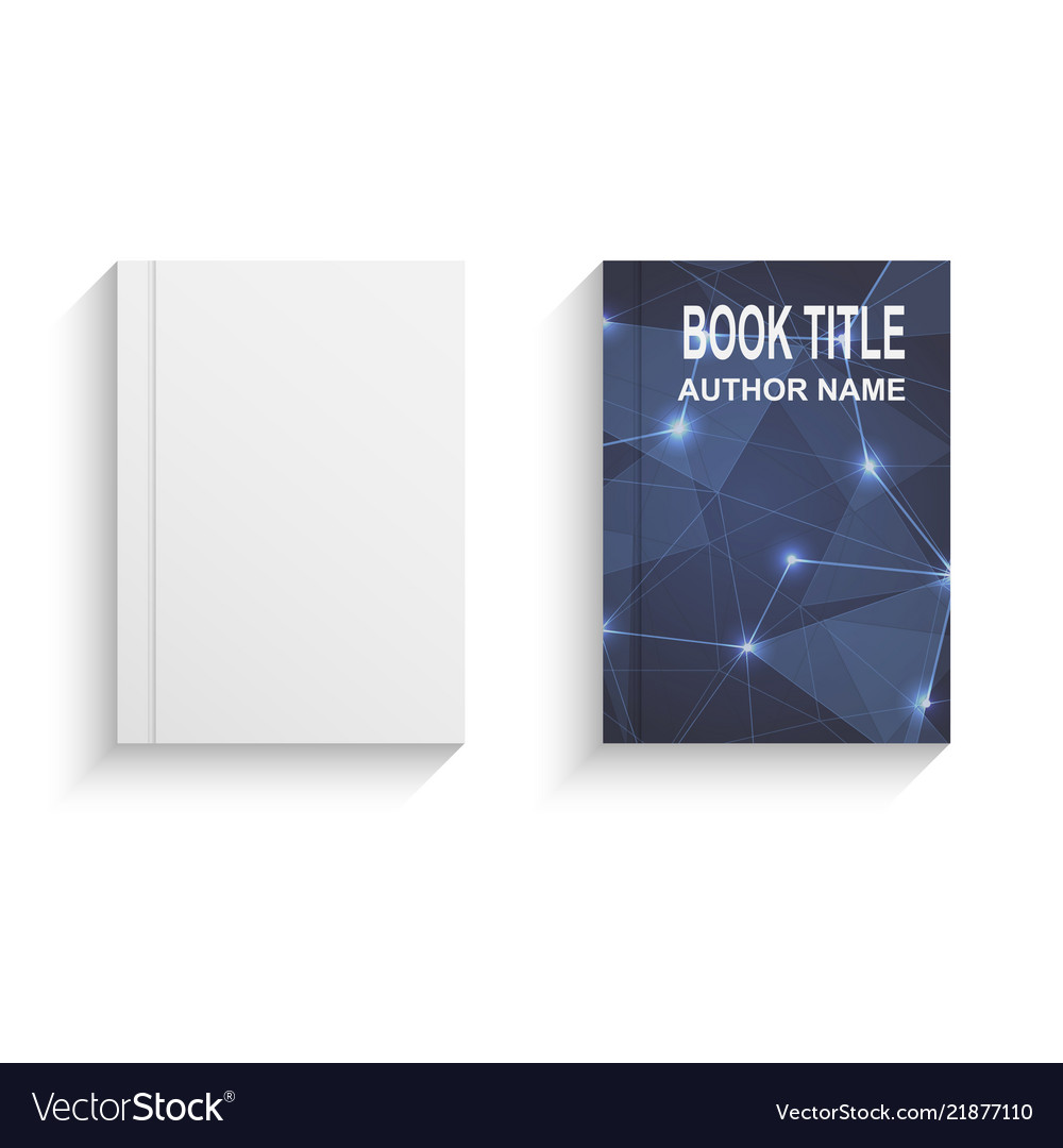 Abstract book cover design template with blue