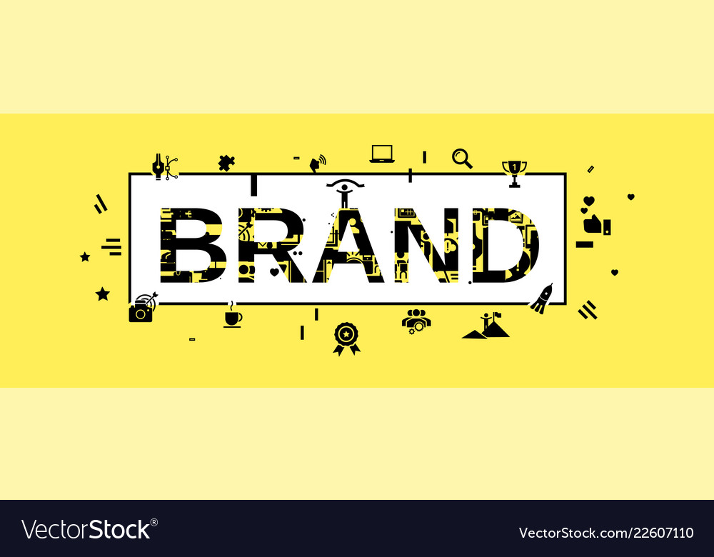 Brand concept banner simple style