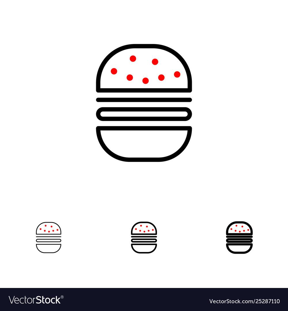 Burger fast food fast food bold and thin black