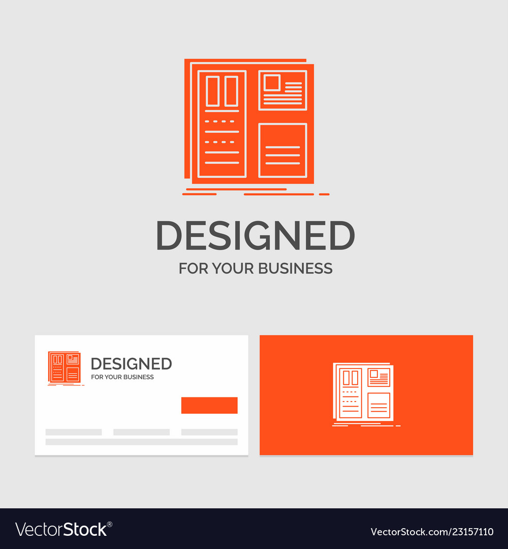 business logo template for design grid interface vector image