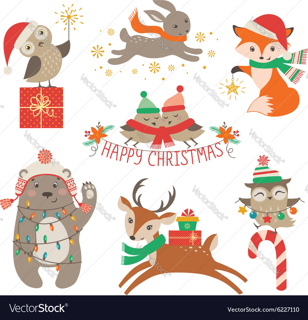 Cute Christmas animals