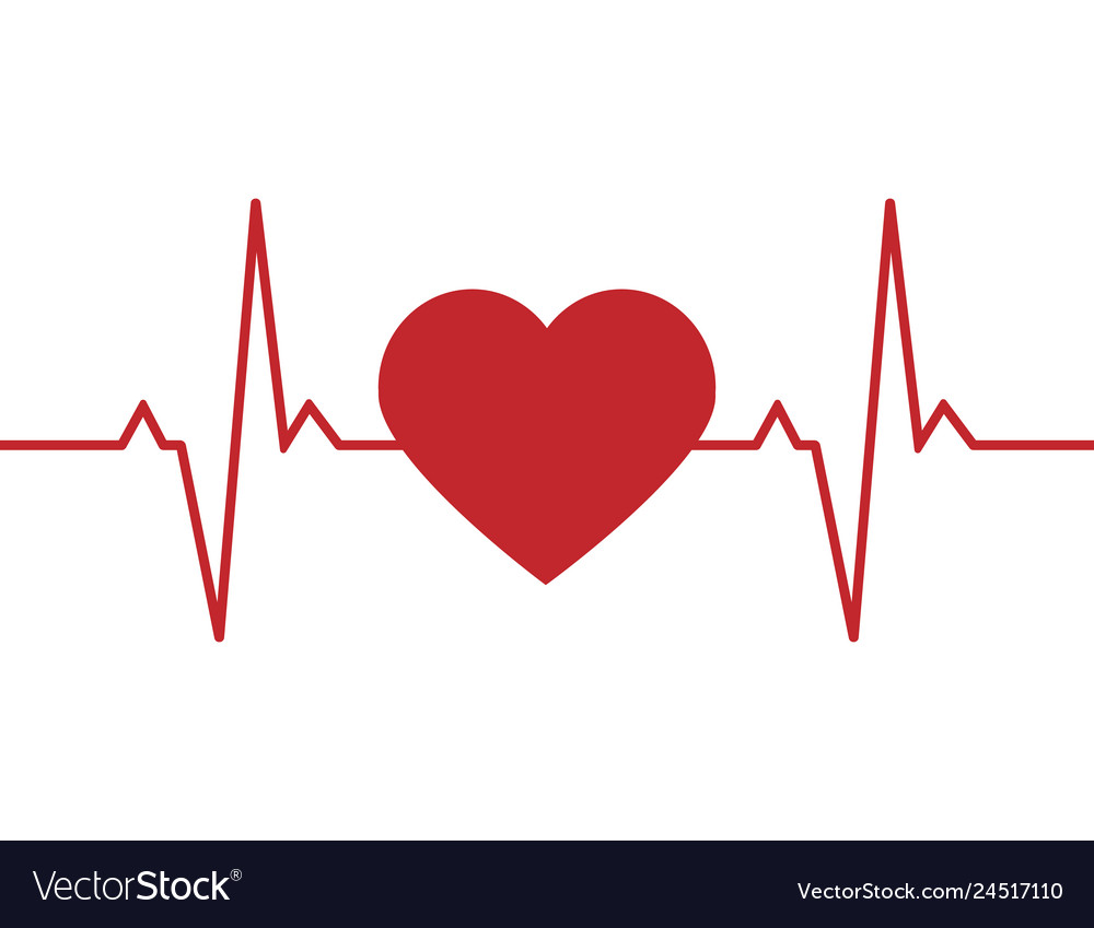 Heartbeat line background icon