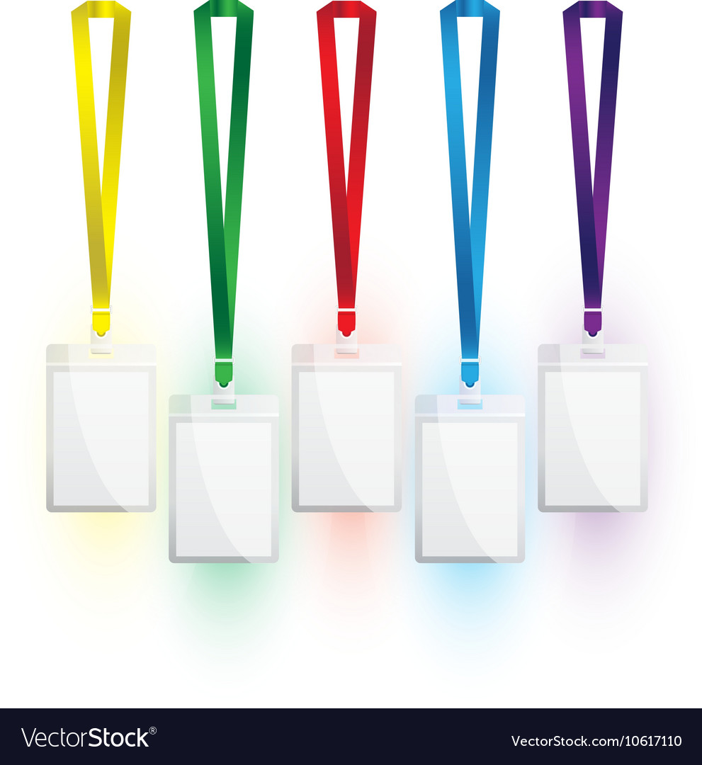 Lanyard colour set vector image
