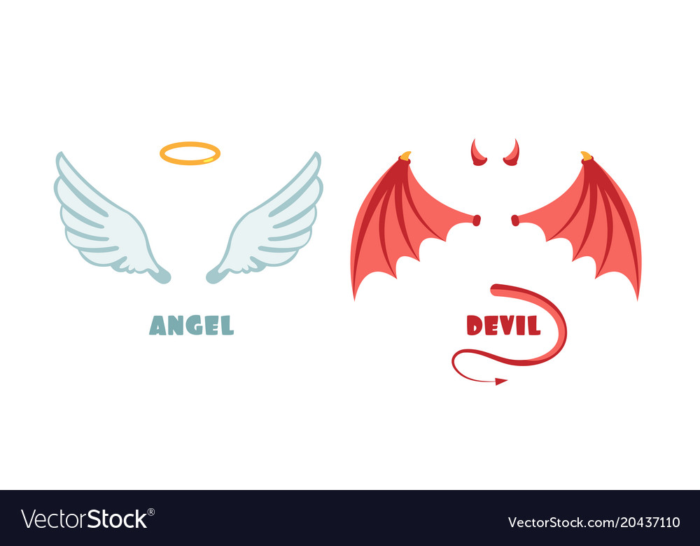 Nobody angel and devil suit innocent and mischief