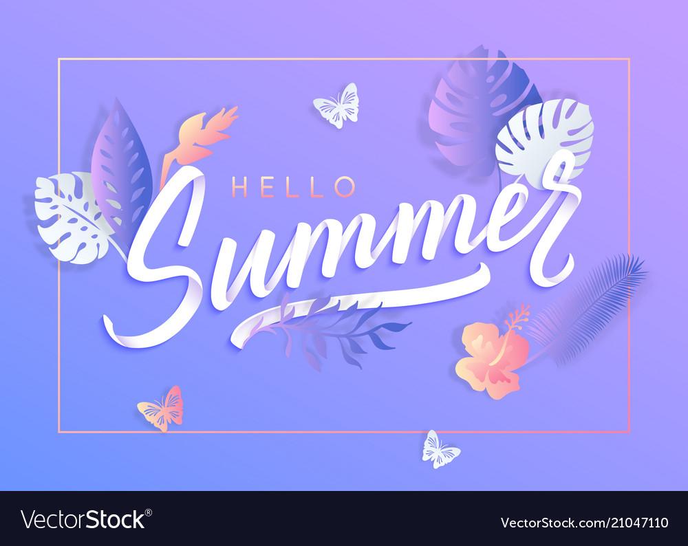 Ultra violet summer typography design