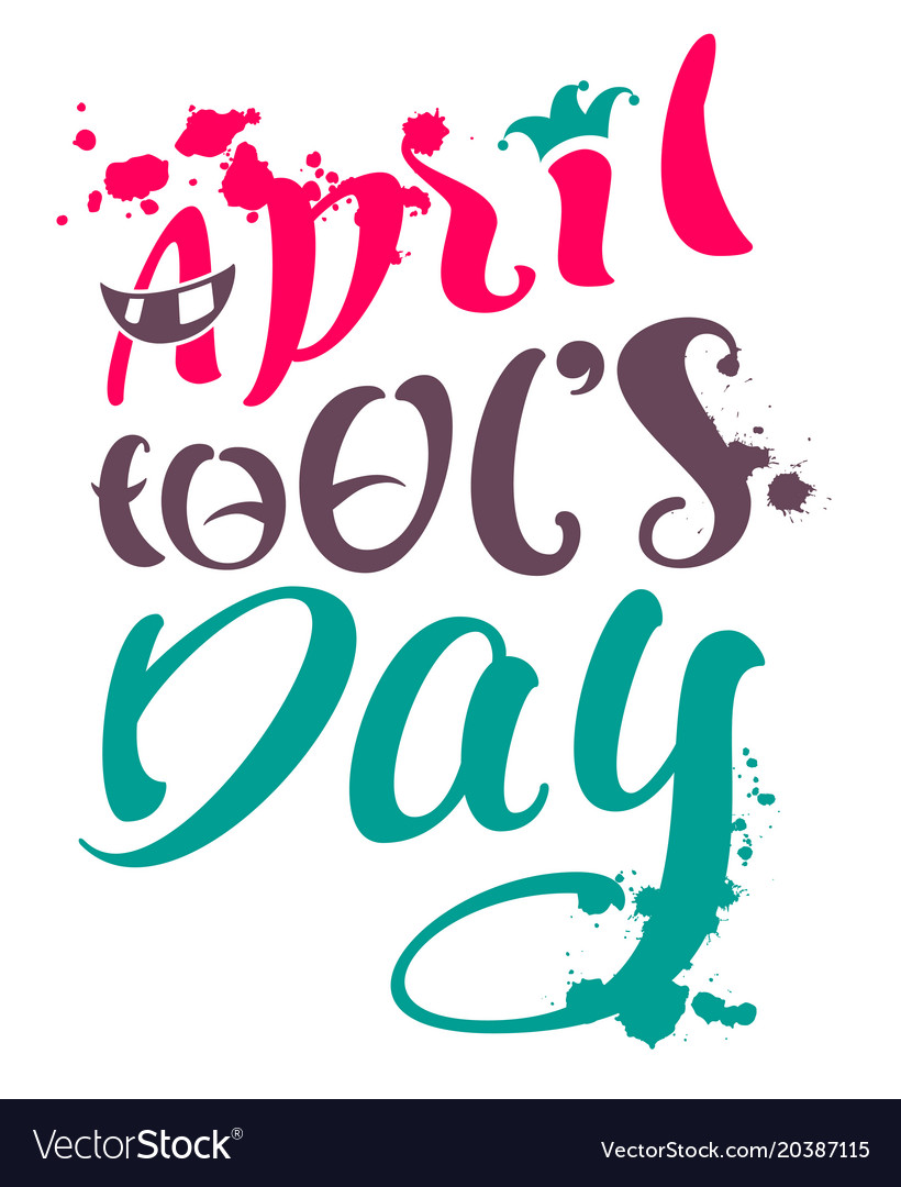 April fools day text for greeting card