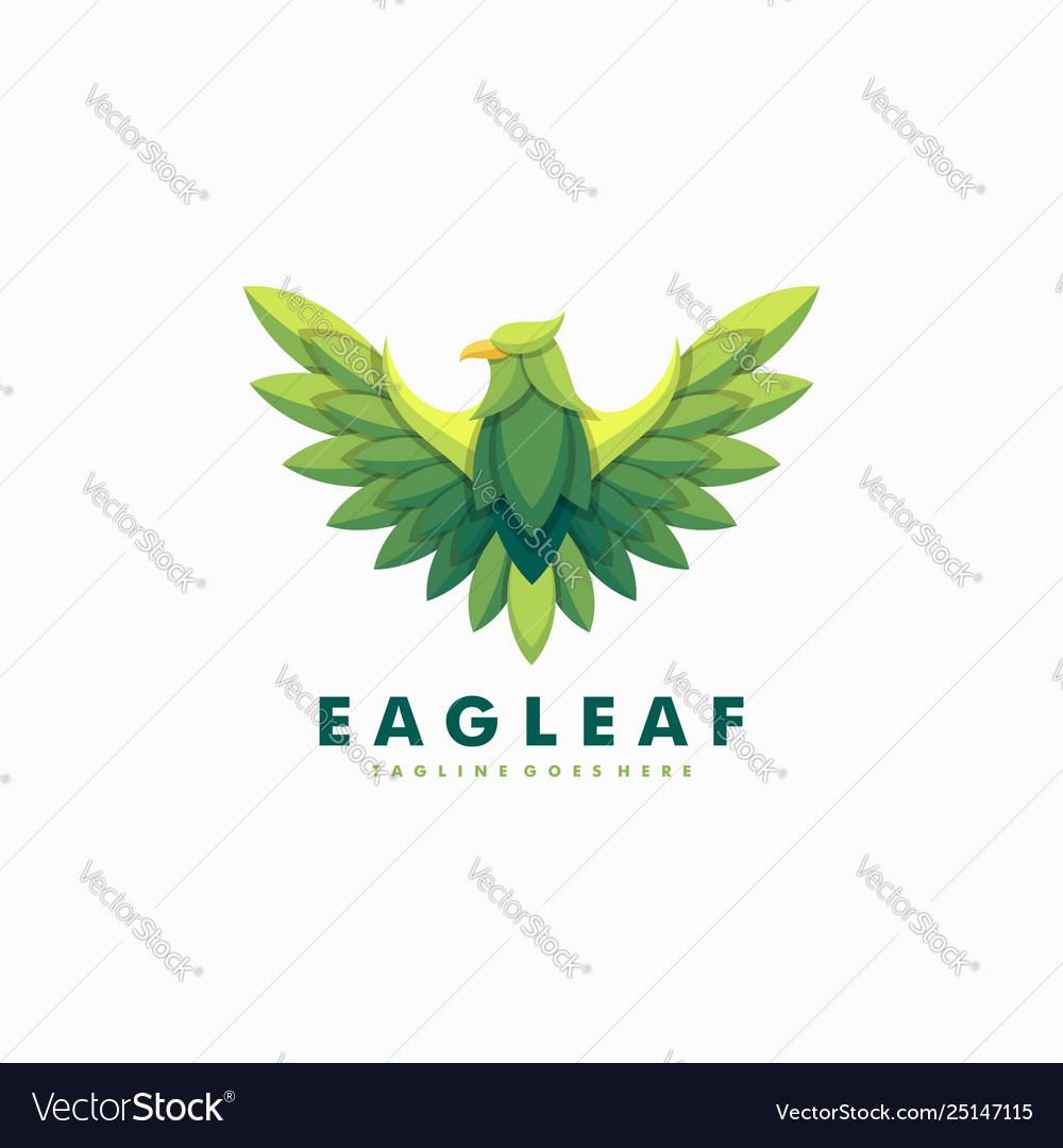Eagle leaves template