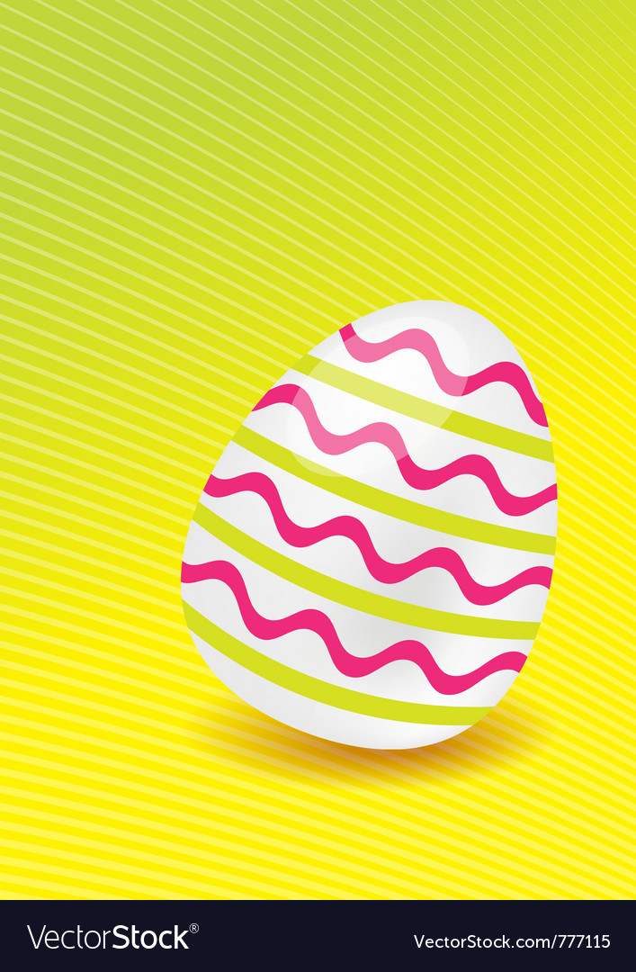 Easter egg with lines