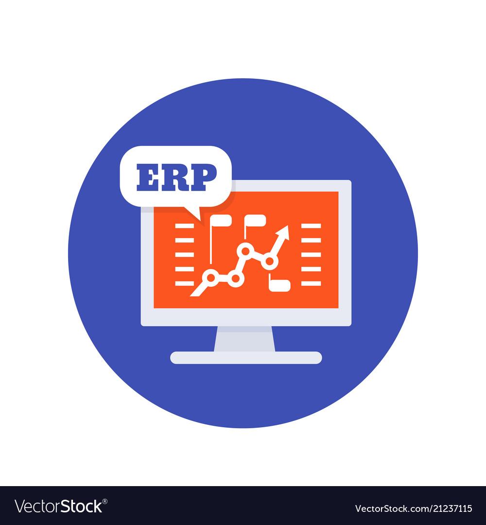 erp software icon royalty free vector image vectorstock