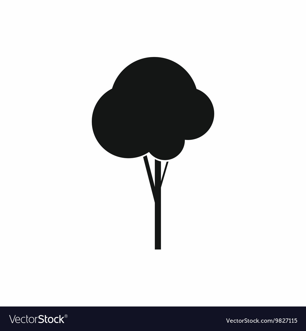 Fluffy tree icon simple style