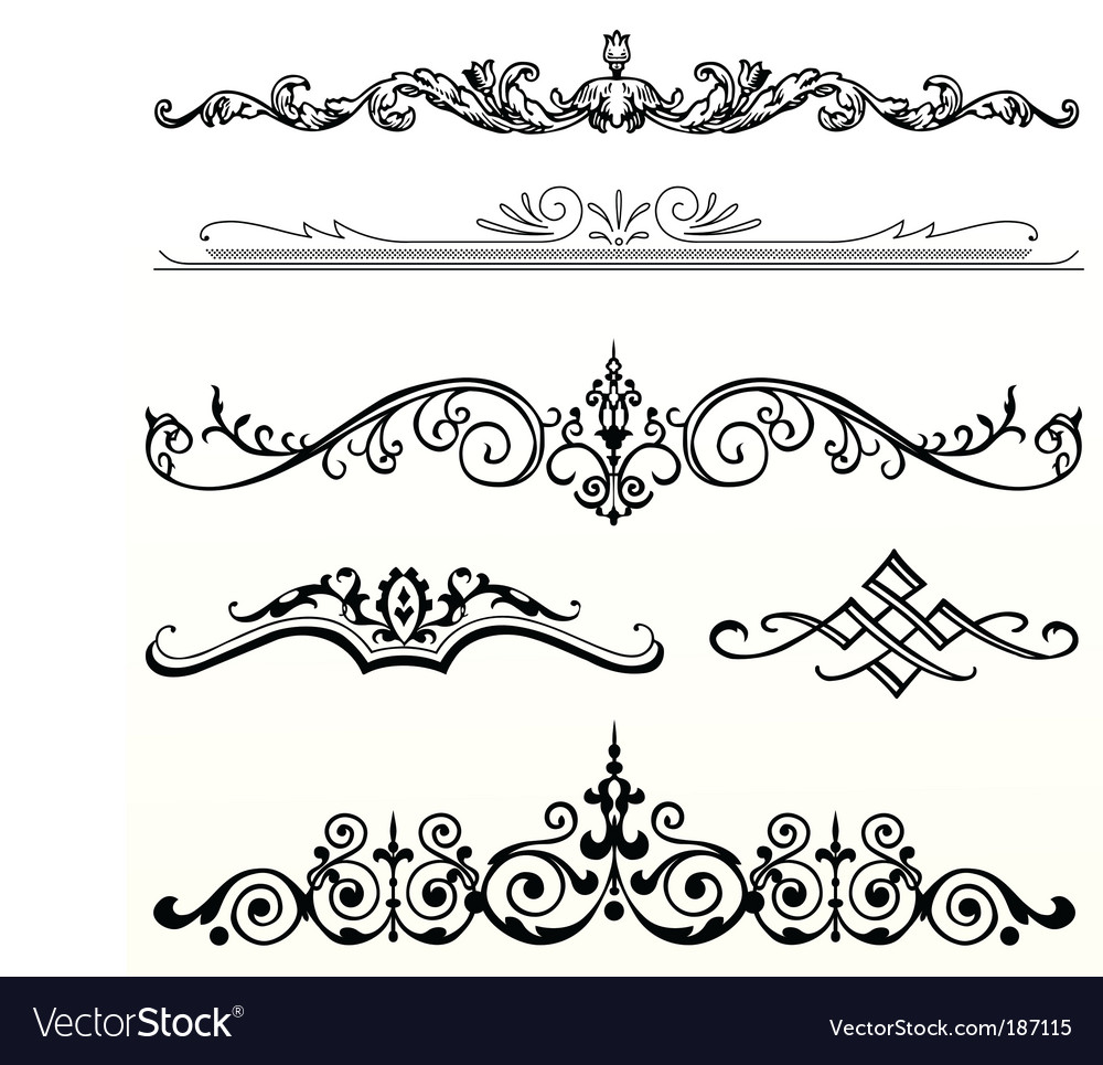 header ornament royalty free vector image vectorstock rh vectorstock com islamic ornament vectors ornament vectors free