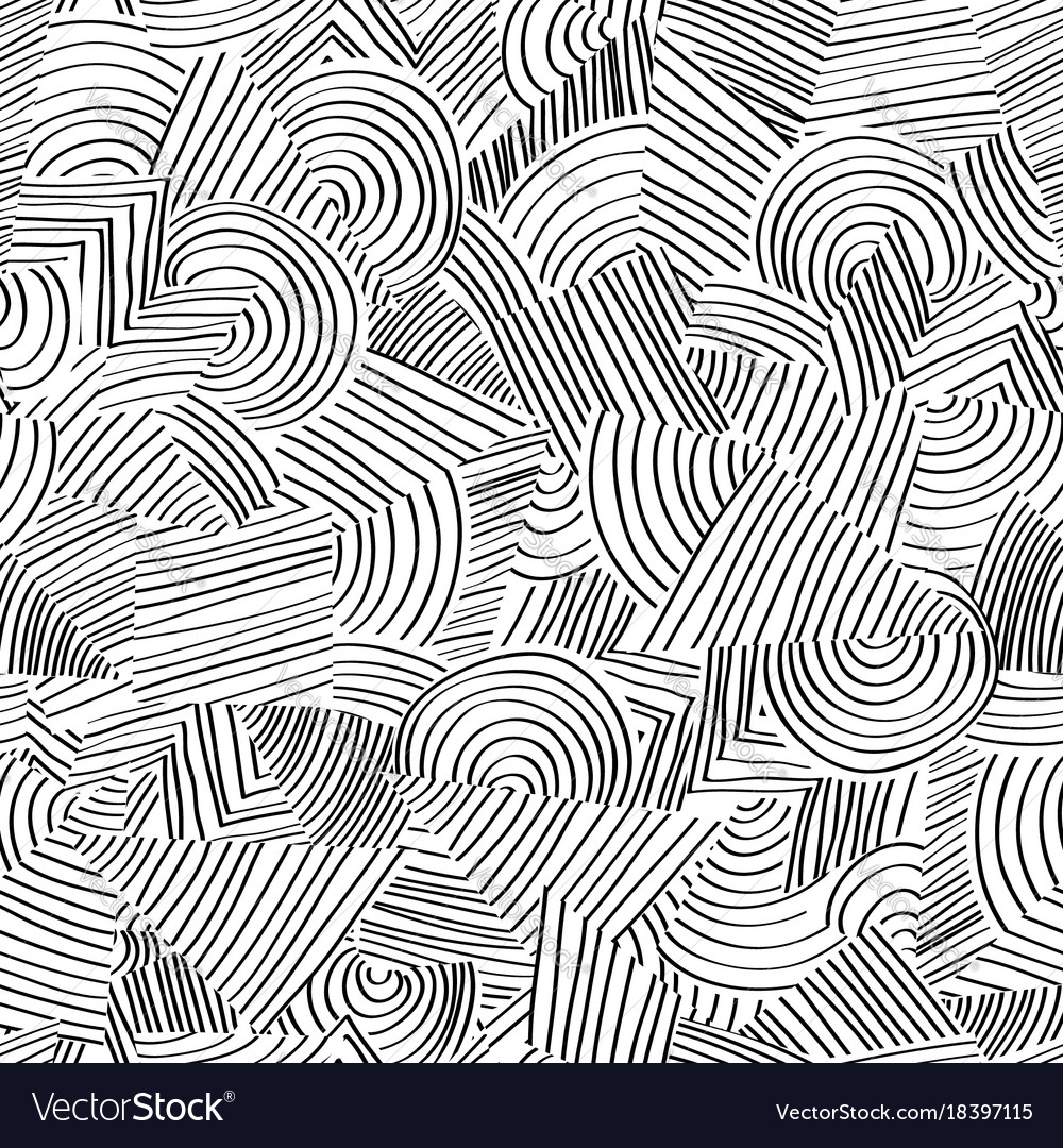 line seamless pattern abstract doodle geometric vector image rh vectorstock com islamic geometric patterns vector free islamic geometric patterns vector